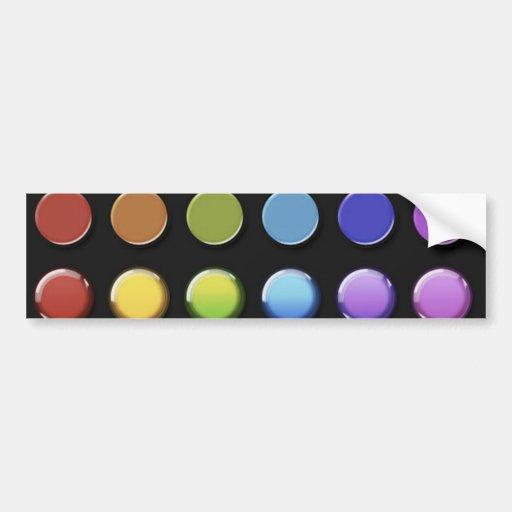 8-ColourfulGlossy Bumper Sticker