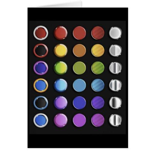 8-ColourfulGlossy Card