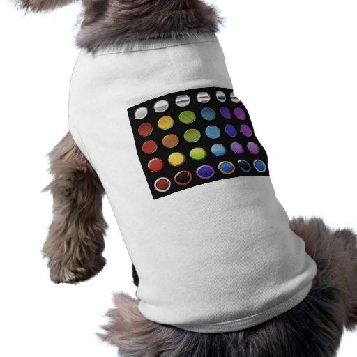 8-ColourfulGlossy Dog Shirt