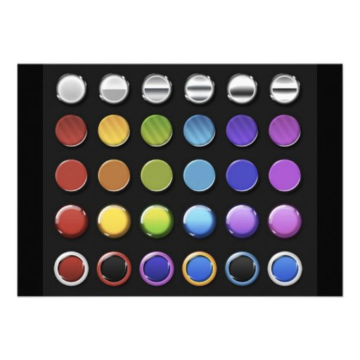 8-ColourfulGlossy Custom Invitation