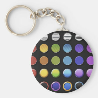 8-ColourfulGlossy Keychains