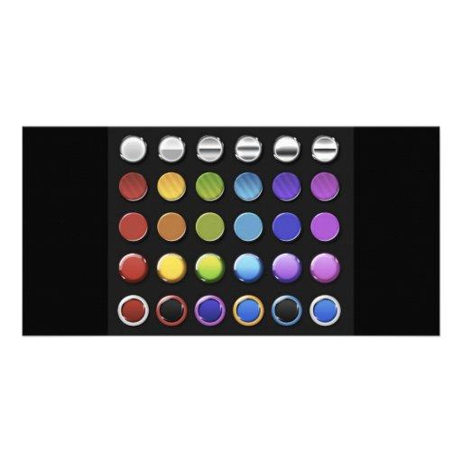 8-ColourfulGlossy Photo Card Template