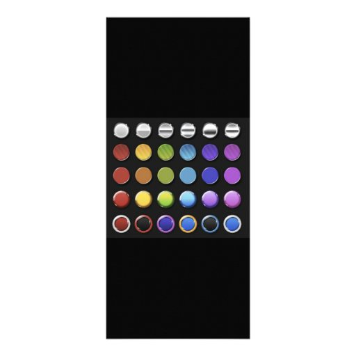 8-ColourfulGlossy Rack Card Design