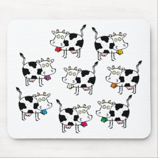 8 Cow Woman Mouse Pad