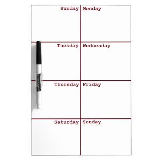 8 Days a Week Dry Erase Board
