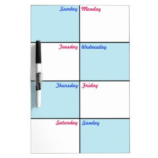 8 Days a Week Organizer Dry Erase Boards