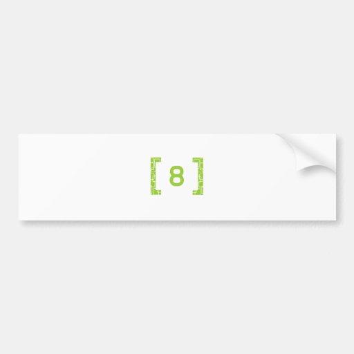 #8 Lime Green Bumper Sticker