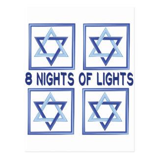 8 Nights Lights Postcard