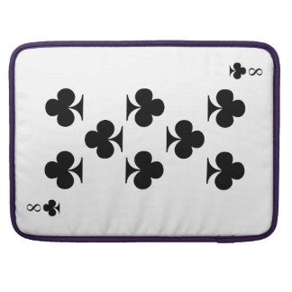 8 of Clubs Sleeve For MacBooks