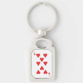 8 of Hearts Key Ring