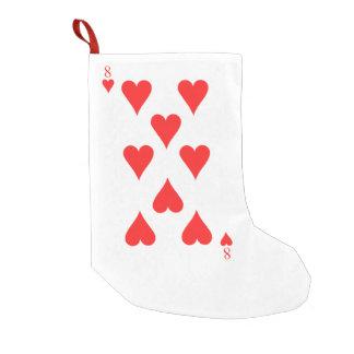 8 of Hearts Small Christmas Stocking