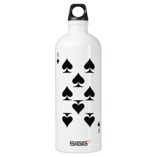 8 of Spades Water Bottle