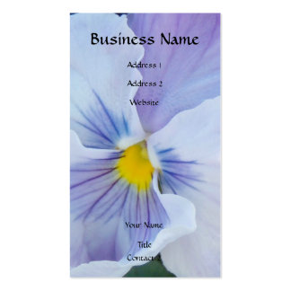 8 Pale Blue Pansy Business Card