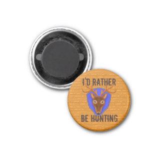 8-Point Buck Deer Trophy - I'd Rather Be Hunting Refrigerator Magnet