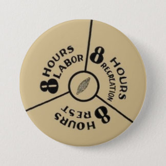 8 sleep work play 7.5 cm round badge
