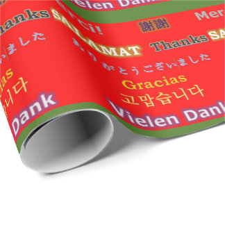 8 Ways of Saying Thank You Wrapping Paper