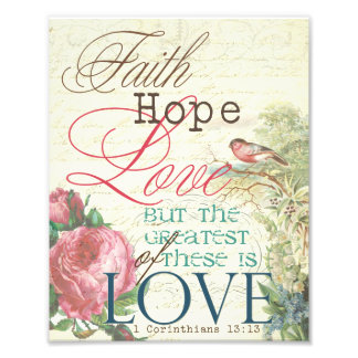 "8"" x 10"" Faith Hope Love Print"