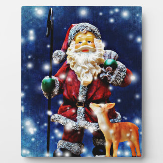 """8"""" x 10"""" Santa Art, including easel Plaque"""