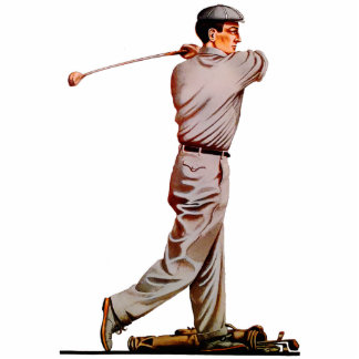 """8 X 10"" Vintage Golf Sculpture Standing Photo Sculpture"