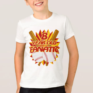 8 Year Old Baseball Fanatic T-Shirt
