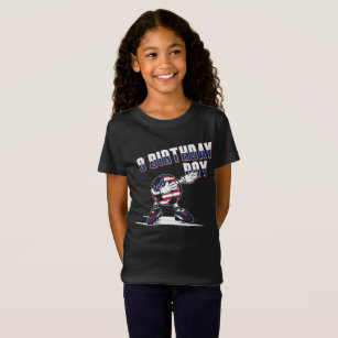 8 Year Old Birthday Boy Dabbing Soccer T Shirt