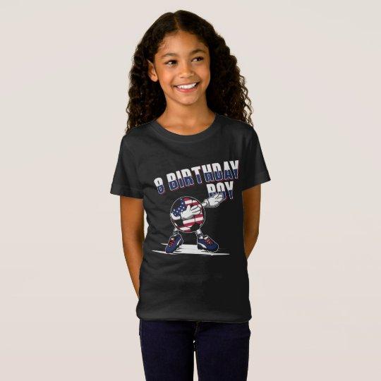 8 Year Old Birthday Boy Dabbing Soccer T Shirt