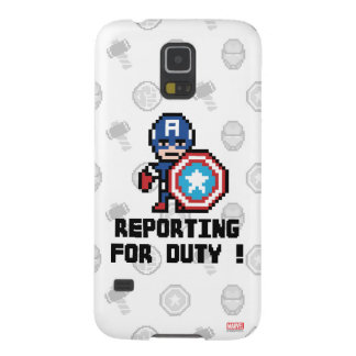 8Bit Captain America - Reporting For Duty! Case For Galaxy S5