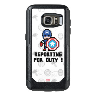 8Bit Captain America - Reporting For Duty! OtterBox Samsung Galaxy S7 Case