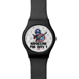 8Bit Captain America - Reporting For Duty! Wrist Watches