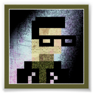 8Bit Grunge Print