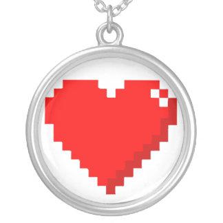 8bit Heart Necklace
