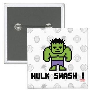 8Bit Hulk - Hulk Smash! 15 Cm Square Badge