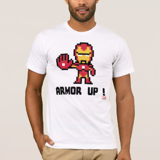 8Bit Iron Man - Armor Up! T-Shirt