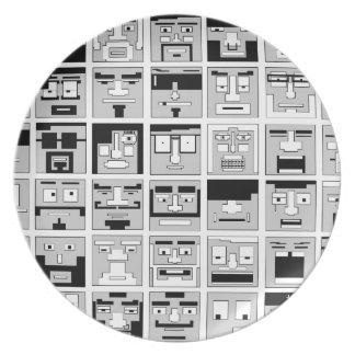 8bit Pixel Characters design Plate