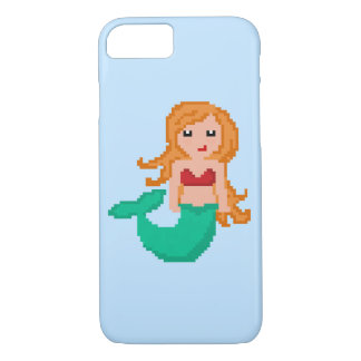 8Bit Pixel Geek Mermaid iPhone 8/7 Case