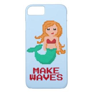 8Bit Pixel Geek Ocean Mermaid Make Waves iPhone 8/7 Case