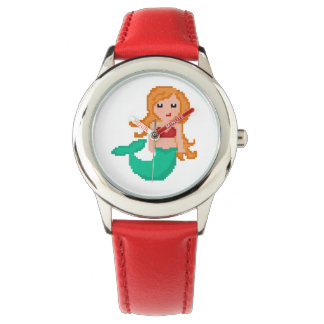 8Bit Pixel Geek Ocean Mermaid Watch