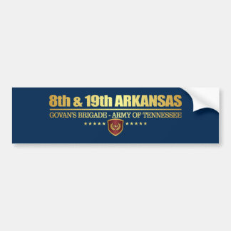 8th & 19th Arkansas Infantry (F10) Bumper Sticker