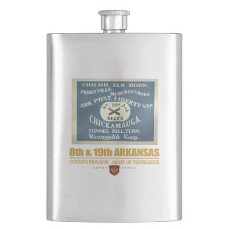 8th & 19th Arkansas Infantry (F10) Hip Flask