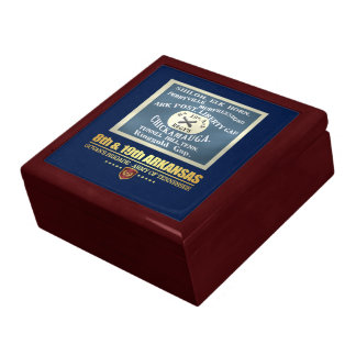 8th & 19th Arkansas Infantry (F10) Large Square Gift Box