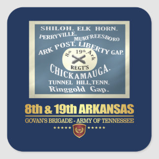 8th & 19th Arkansas Infantry (F10) Square Sticker