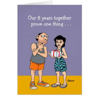 8th Anniversary Card: Love Greeting Card