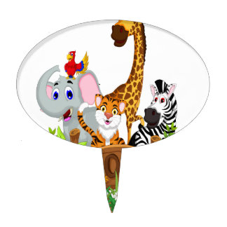 8th April - Zoo Lovers Day Cake Toppers