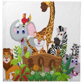 8th April - Zoo Lovers Day Napkins