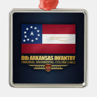 8th Arkansas Infantry (2) Metal Ornament