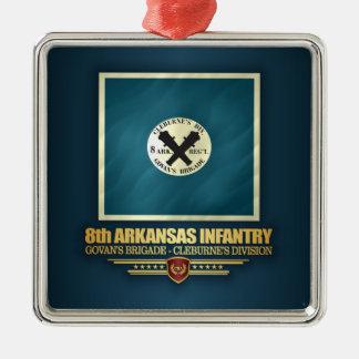 8th Arkansas Infantry Metal Ornament