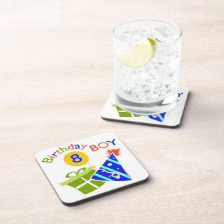 8th Birthday - Birthday Boy Drink Coaster