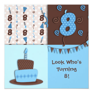 8th Birthday : Boy : Invitation