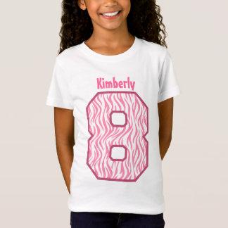 8th Birthday Girl Zebra Eight Year Custom V07H1 T-Shirt