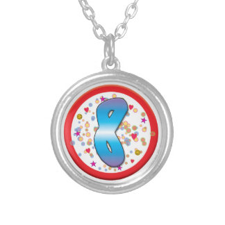 8th Birthday Personalised Necklace